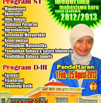 Penerimaan Mahasiswa Baru Universitas Pekalongan Tahun Akademik 2012/2013