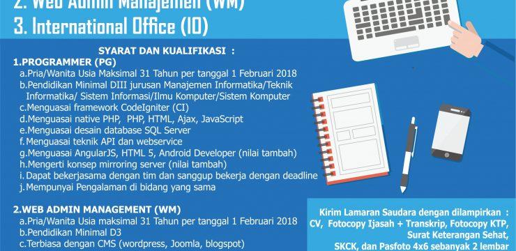 Lowongan Pekerjaan Universitas Pekalongan 2018