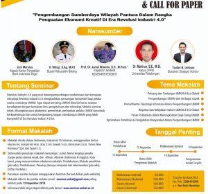 SEMINAR NASIONAL & CALL FOR PAPER