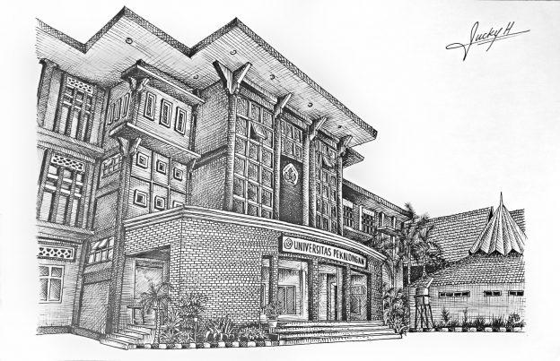 lomba sketsa batik kontemporer dan prespektif arsitektur