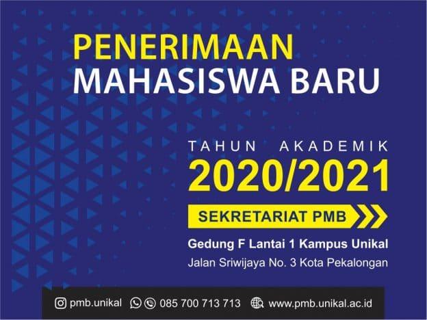 Penerimaan Mahasiswa Baru unikal 2020