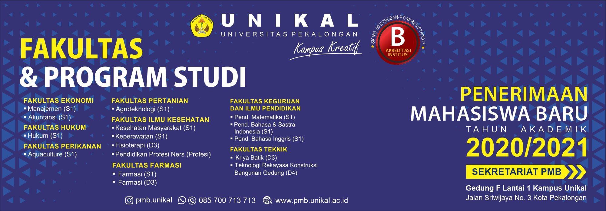 Fakultas dan Prodi Unikal