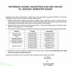 Registrasi Mahasiswa 2021 - Susulan